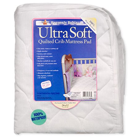 Kid Ding Waterproof Ultra Soft Quilted Crib Mattress Pad Walmart Com