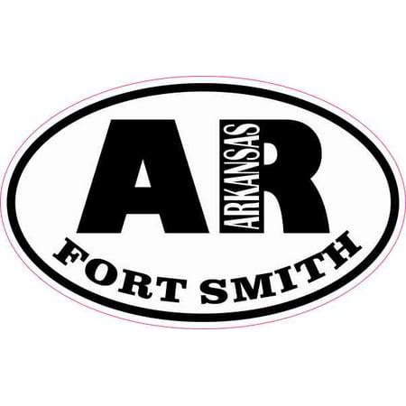 4in x 2.5in Oval AR Fort Smith Arkansas Sticker ()