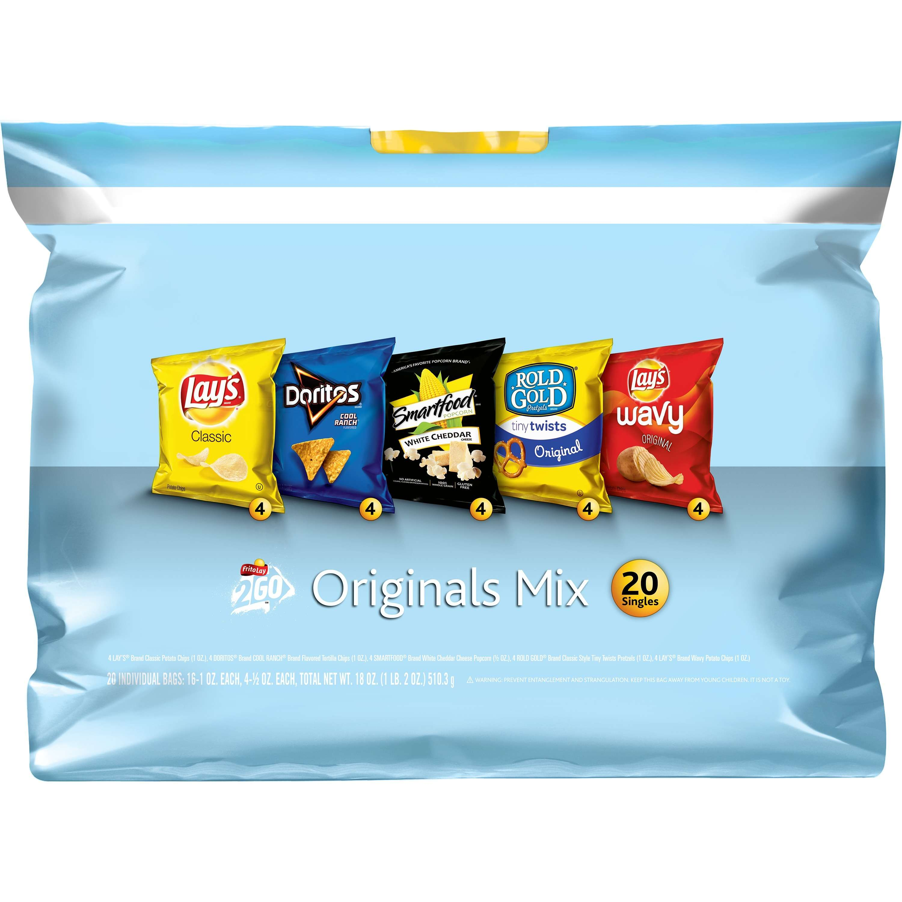 Frito Lay Original Mix, Variety Pack, 20 Count