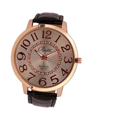 Large Womens Watch (Large Face Fashion Design Wristwatch Easy to Read Fashion Watch-58 )