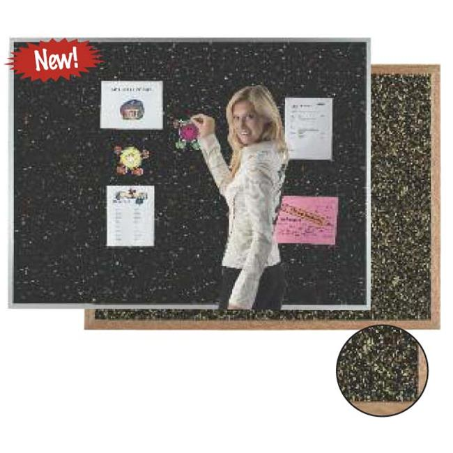Aarco Products DRC4872GRY Aluminum Frame Grey Rubber Cork Bulletin Board, 48 x 72 in.