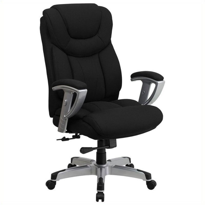 Pemberly Row Tall Office Chair with Arms in Black - image 3 de 4