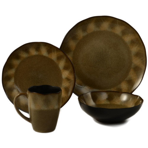 ColorUs China Yaxha 16 Piece Dinnerware Set, Service for 4