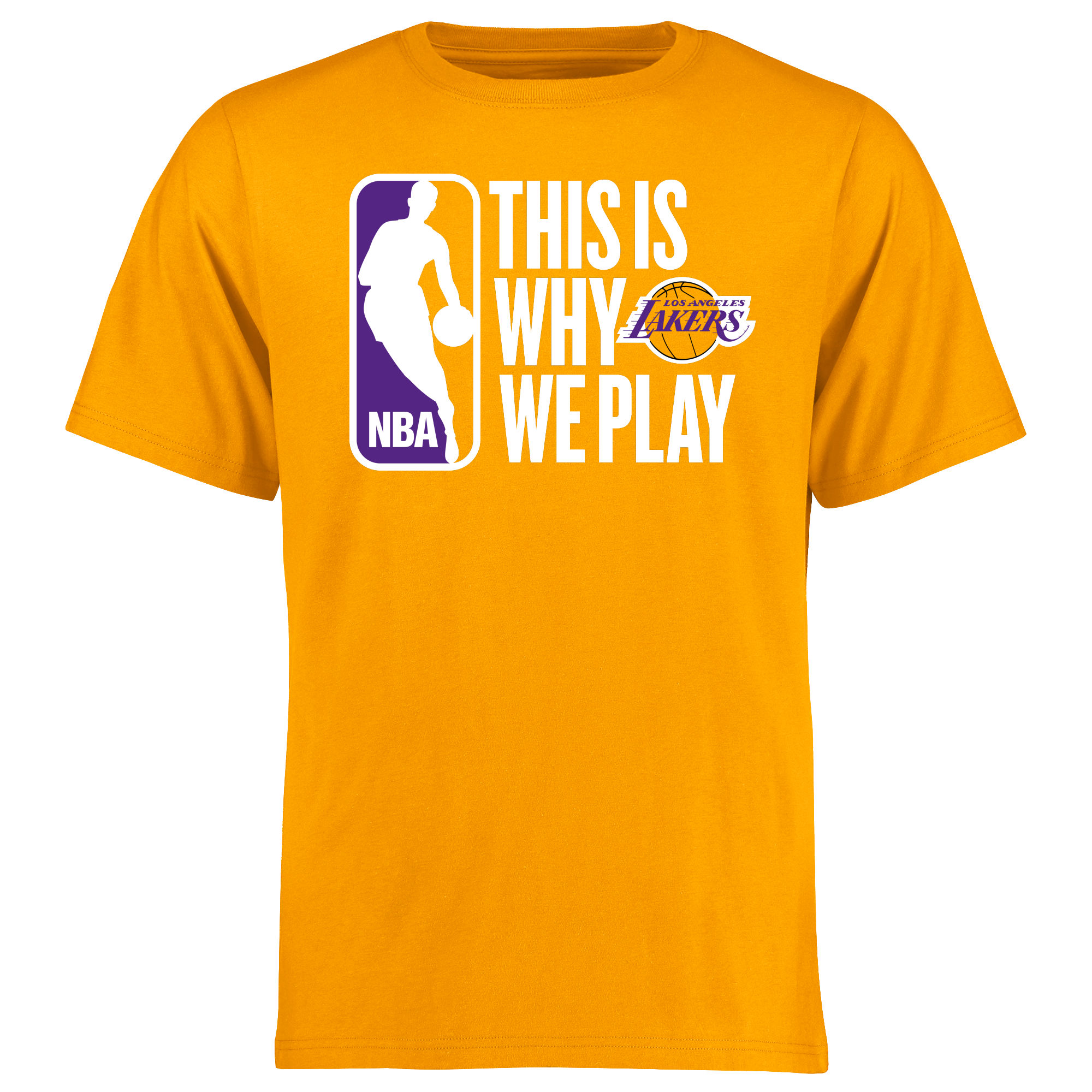 Los Angeles Lakers This Is Why We Play T-Shirt - Gold
