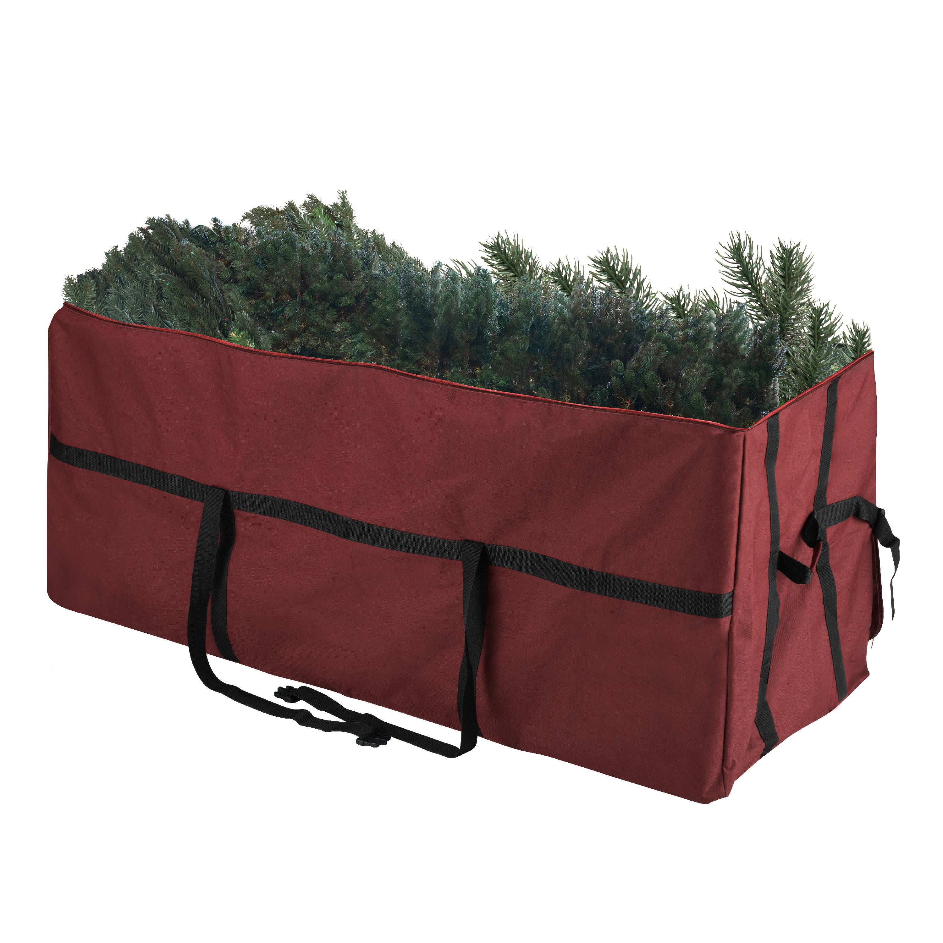 Elf Stor Heavy Duty Red Canvas Christmas Tree Storage Bag Large For 7.5 ft Tree