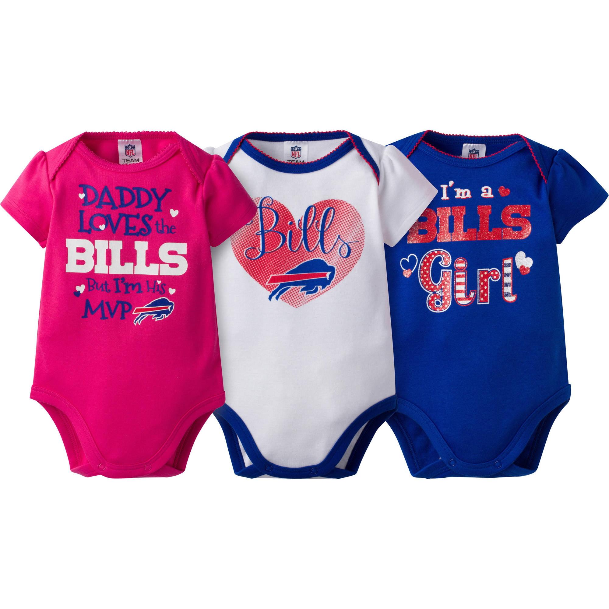 NFL Buffalo Bills Baby Girls Short Sleeve Bodysuit Set 3