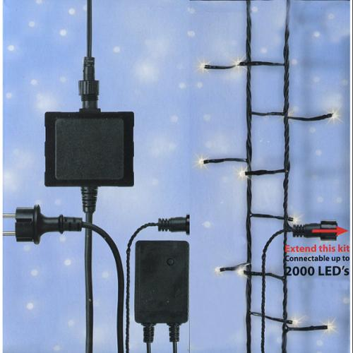 LED's Connect 24V Starter Kit - Transformer, Controller and 4 Sets of Christmas Lights - Warm Clear