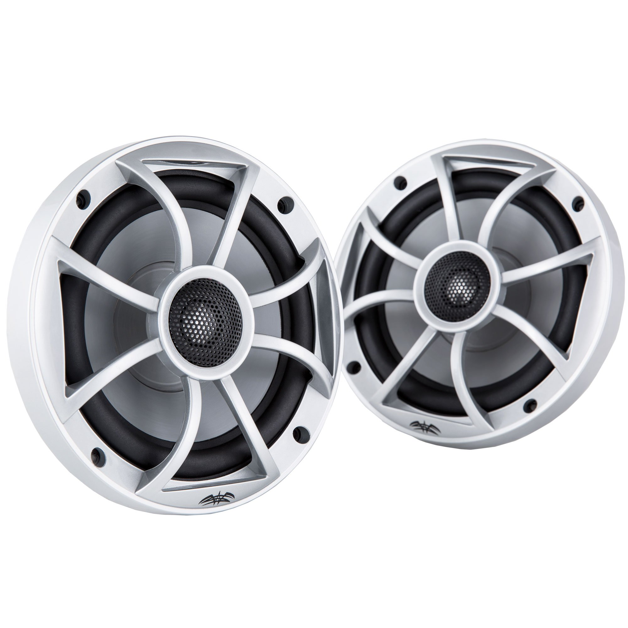 Wet Sounds 6.5 Inch 120W Component Coaxial Speakers, Silver Grille | XS-65i-S