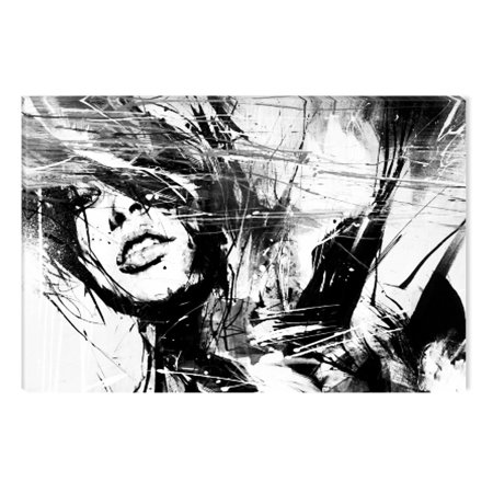 Startonight Canvas Wall Art Black and White Abstract Life is a Dream, Dual View Surprise Artwork Modern Framed Ready to Hang Wall Art 100% Original Art Painting 23.62 X 35.43 inch