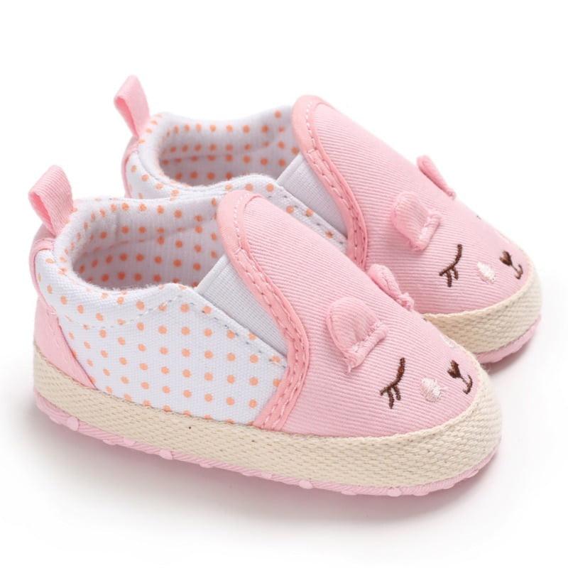 Baby Girl Shoes Cartoon Print Cotton