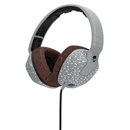 Skullcandy Crusher Headphones With Built In Amplifier And Mic  Microfloral Grey And Black