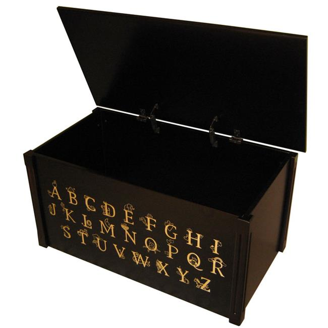 Wood Creations WTE-ABC Espresso Toybox with full Alphabet