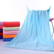 Microfiber Absorbent Drying Bath Beach Towel Washcloth Swimwear Hair Towel