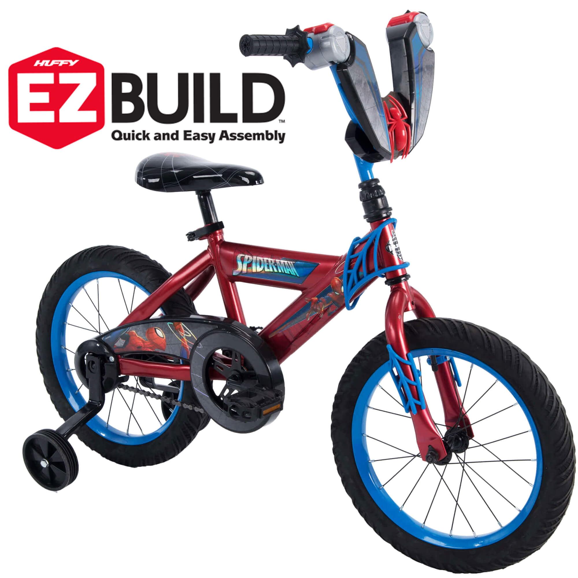 Marvel Spider-Man 12 Boys EZ Build Bike for Kids by Huffy
