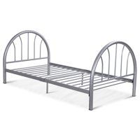 Costway 83''x42''x35'' Metal Bed Platform Frame Twin Size  Home Furniture (Sliver)