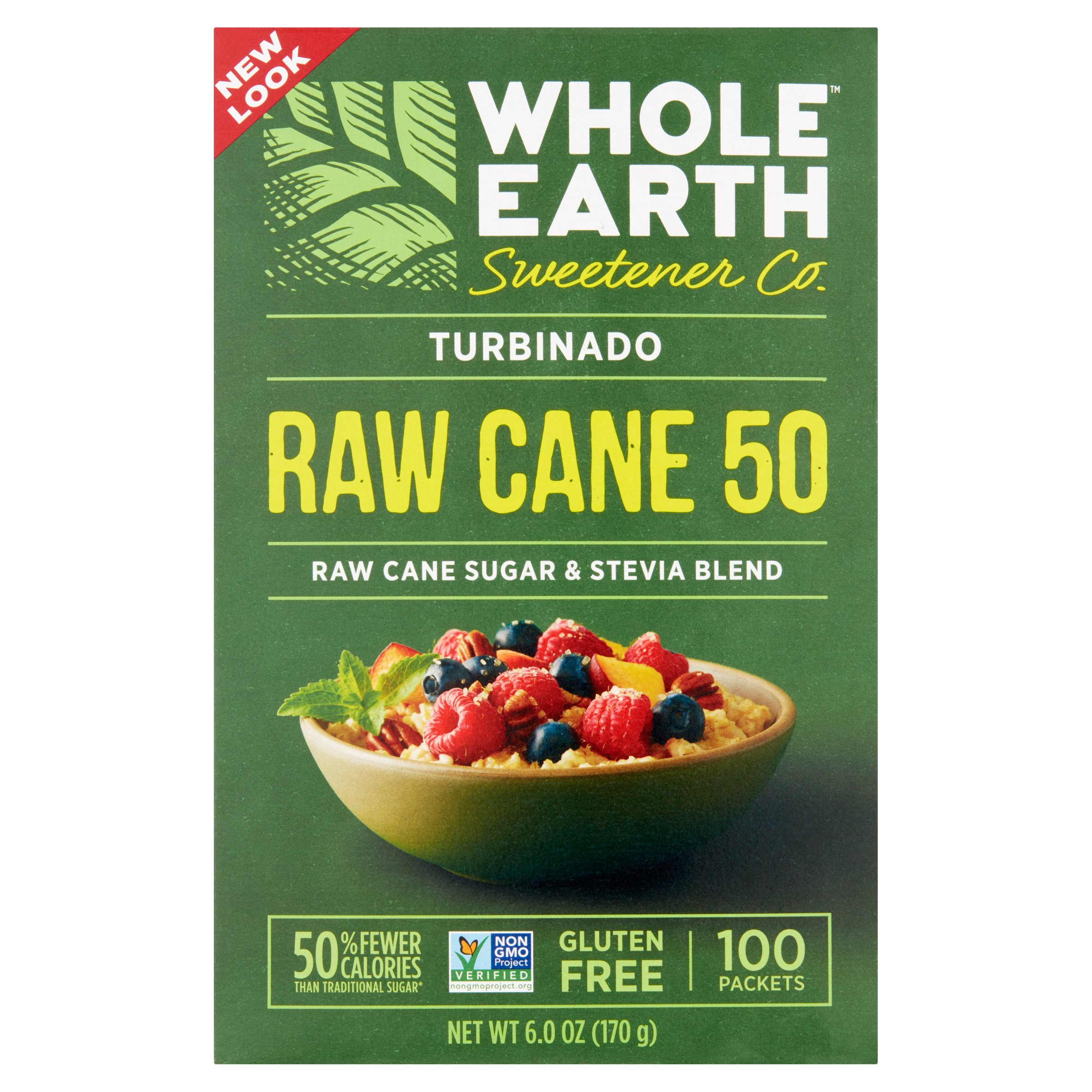 Whole Earth Raw Cane Sugar and Stevia Blend, 6 oz