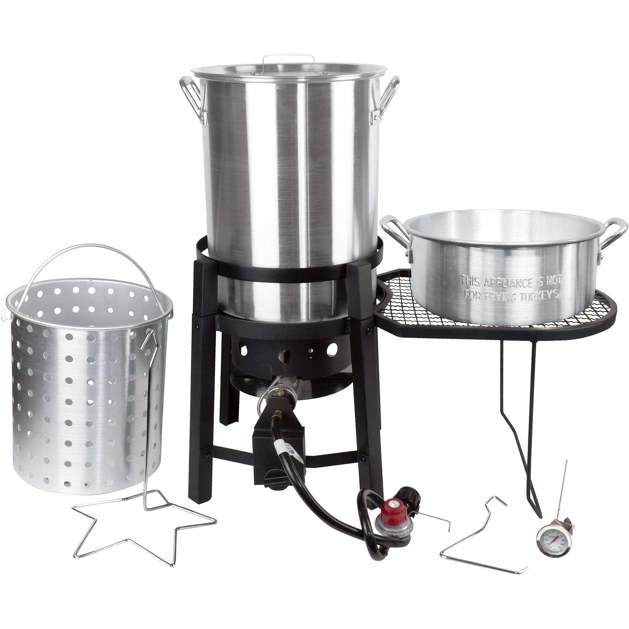 Cajun Injector 30-Quart Turkey Fryer with Table