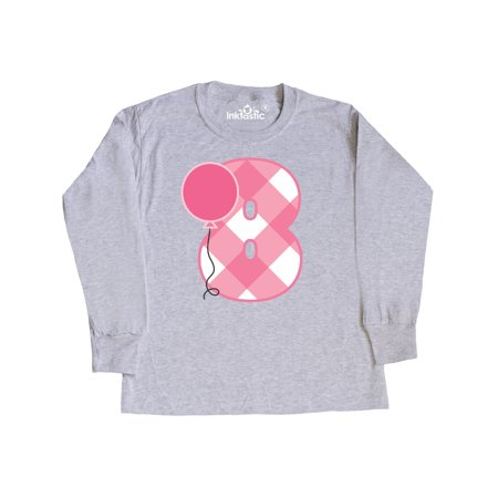 8th Birthday Party Balloon Youth Long Sleeve T Shirt