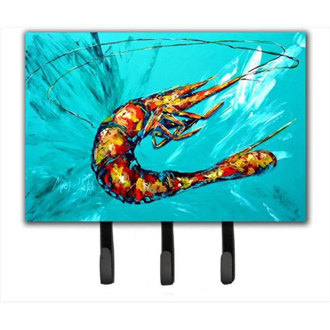 Carolines Treasures MW1100TH68 6 x 9 In. Shrimp Teal Shrimp Leash or Key Holder - image 1 de 1
