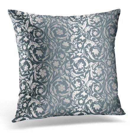 International Silver Century House (ARHOME Beautiful Luxury Vintage Floral with Wildflowers in the Style of 19Th Century Gray with Silver Baroque Pillow Case Cushion Cover 20x20)
