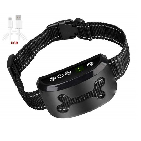 Fysho Dog Anti Bark Collar Shock Collars ,Rechargeable and Rainproof Anti Bark Control for Small Medium and Large