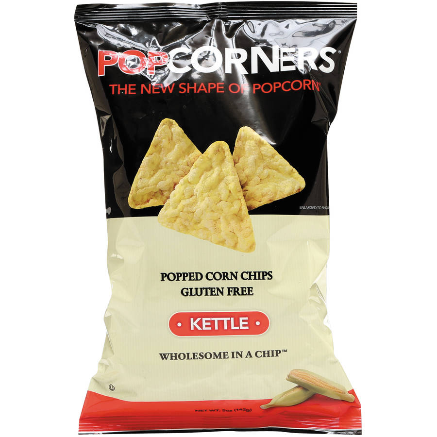 Medora Snacks Popcorners Kettle Popped Corn Chips, 5 oz, (Pack of 12)