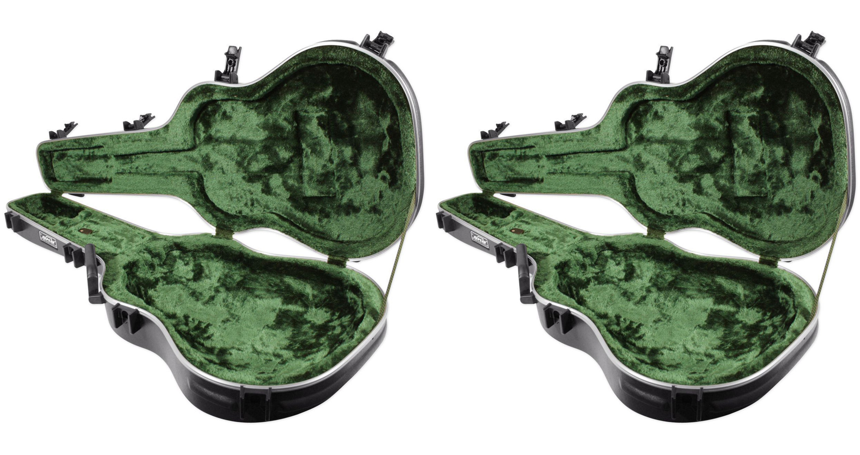 (2) SKB 1SKB-16 Ovation Shaped Roundback Guitar Hard Cases by SKB