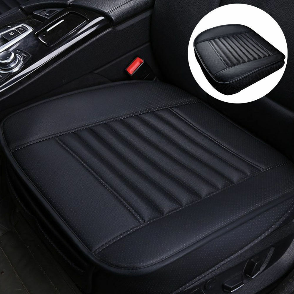 Universal Car Chair Accessories Seat Cover Front Cushion PU Leather Black/&White