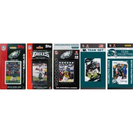 C & I Collectables EAGLES5TS NFL Philadelphia Eagles 5 Different Licensed Trading Card Team Sets