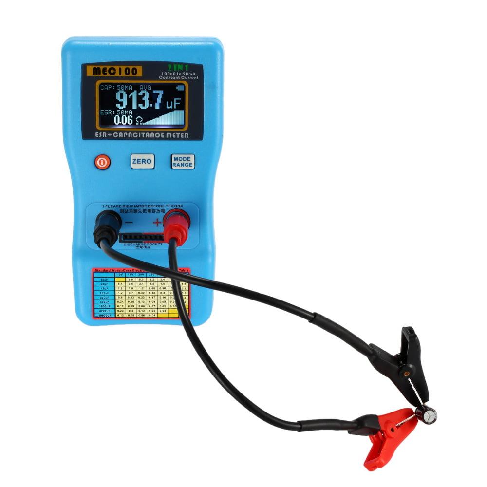 2 in 1 Digital Auto-ranging 0-470Ω Capacitor ESR Meter 0μ...