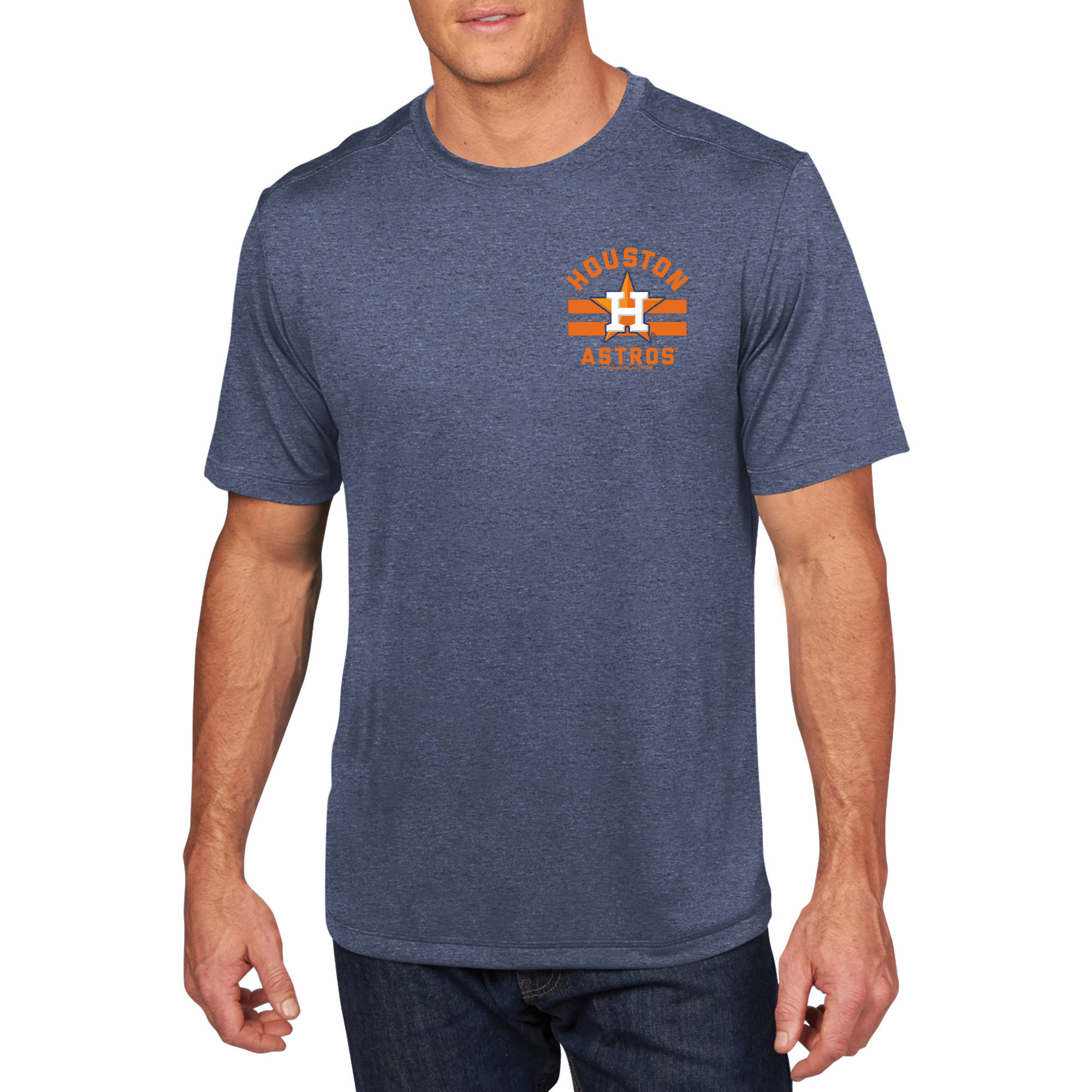 MLB - Big Mens Houston Astros Short Sleeve Synthetic Team Tee