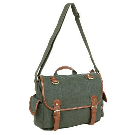 Men Women Vintage Messenger Bag Laptops Satchel Briefcase Bag Travel Backpack ()