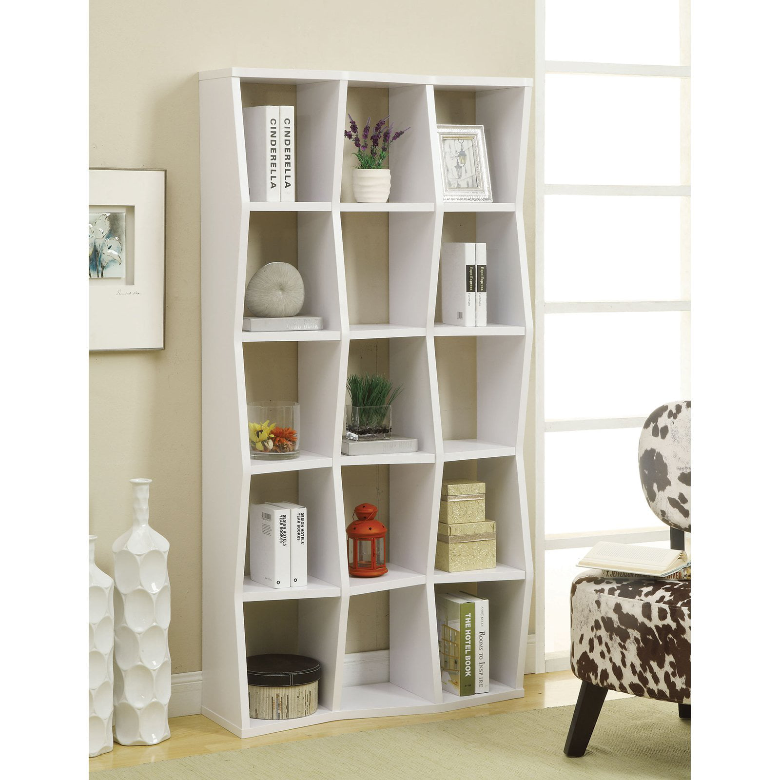 Backless Bookshelves Coaster Backless Bookcase, White - Walmart.com