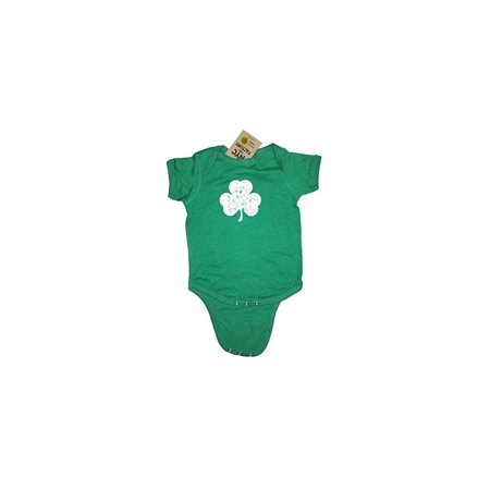 Screen Printed Distressed Shamrock Baby Bodysuit 6m 12m 18m 24m Irish Green (12m)