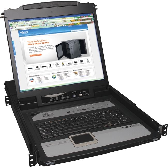 Tripp Lite NetDirector 8-Port 1U Rackmount Console KVM Switch by Tripp Lite