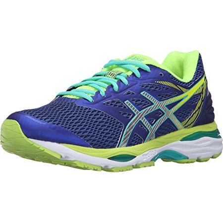 ASICS Women's Gel Cumulus 18 Running Shoe, Asics BlueSilverSafety Yellow, 10 M US