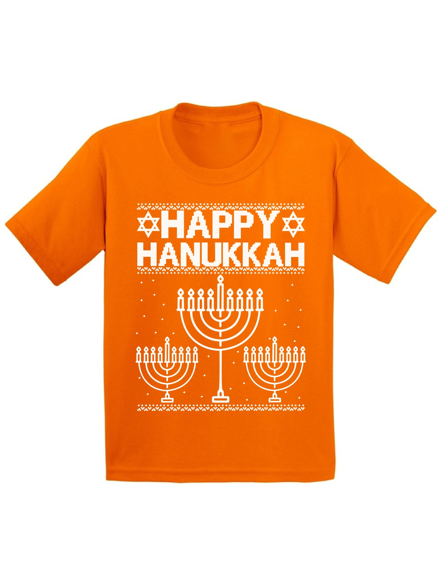 Awkward Styles Happy Hanukkah Christmas Shirts for Kids Jewish Menorah Kid's Christmas Shirt Xmas Happy Hanukkah Youth Christmas Tee Funny Kid's Christmas Holiday Shirt Christmas Gifts for Kids