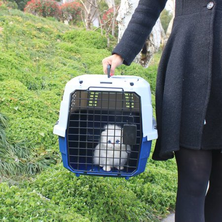 - Favorite Dog Cat Rabbit Two Door Top Load Car Travel Vet Visit Pet Carrier