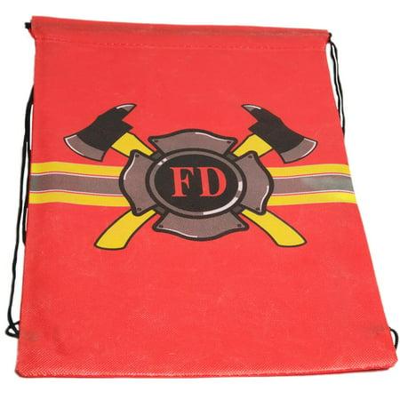 Firefighter Drawstring Backpack - Firefighter Backpack