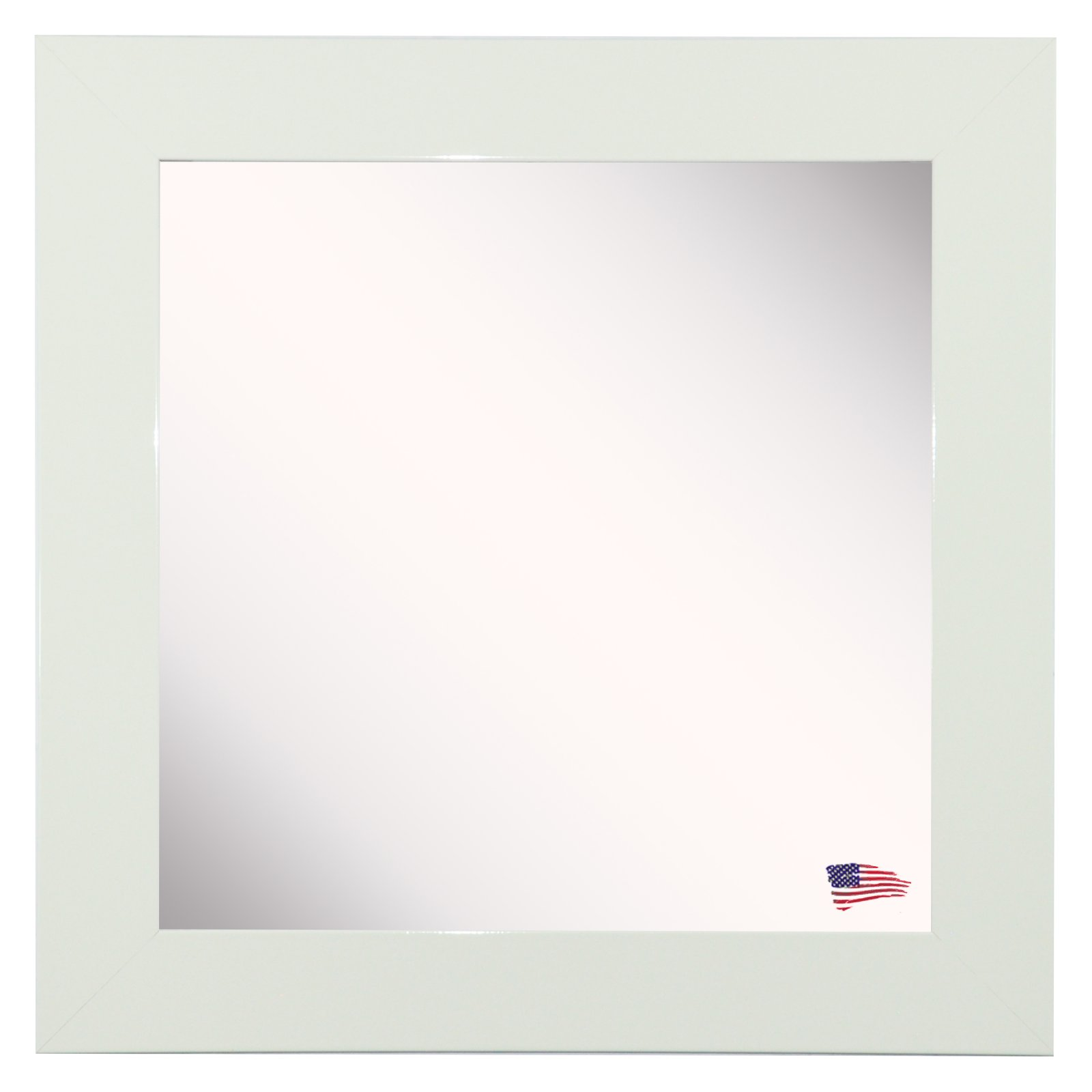 Rayne Mirrors Delta White Wall Mirror by Overstock