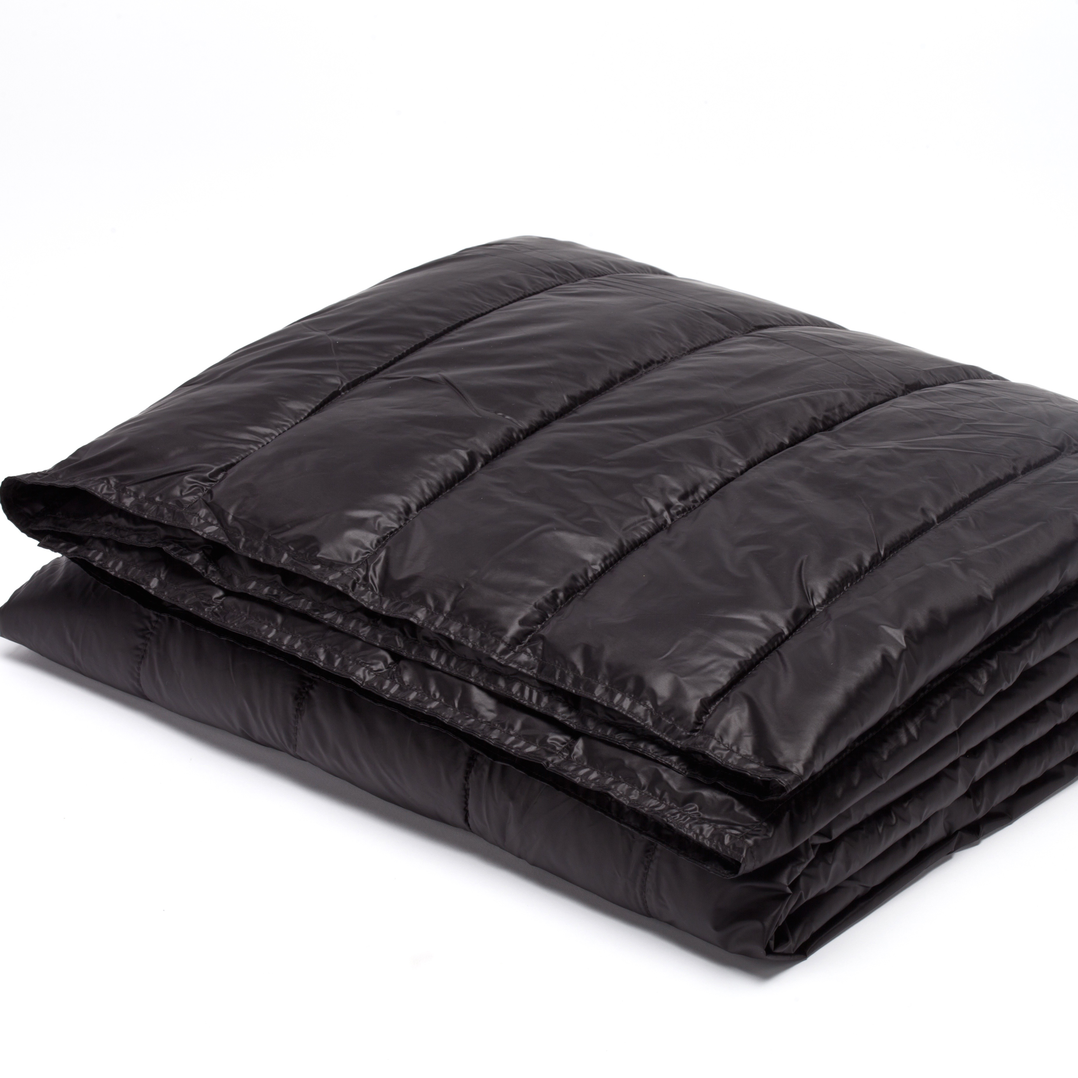 """PUFF 50"""" x 70"""" Packable Down Alternative Indoor/Outdoor Water Resistant Throw with Extra Strong Nylon Cover"""