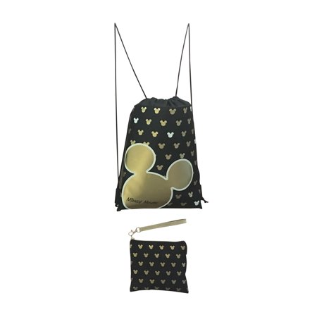 9098b1a4d9d LICENSED DISNEY - Disney Mickey Mouse Glow in the Dark Drawstring Backpack  with Bonus Wristlet Wallet - Walmart.com