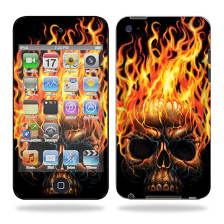 Skin Decal Wrap for iPod Touch 4G 4th Generation – Blue Fire ()
