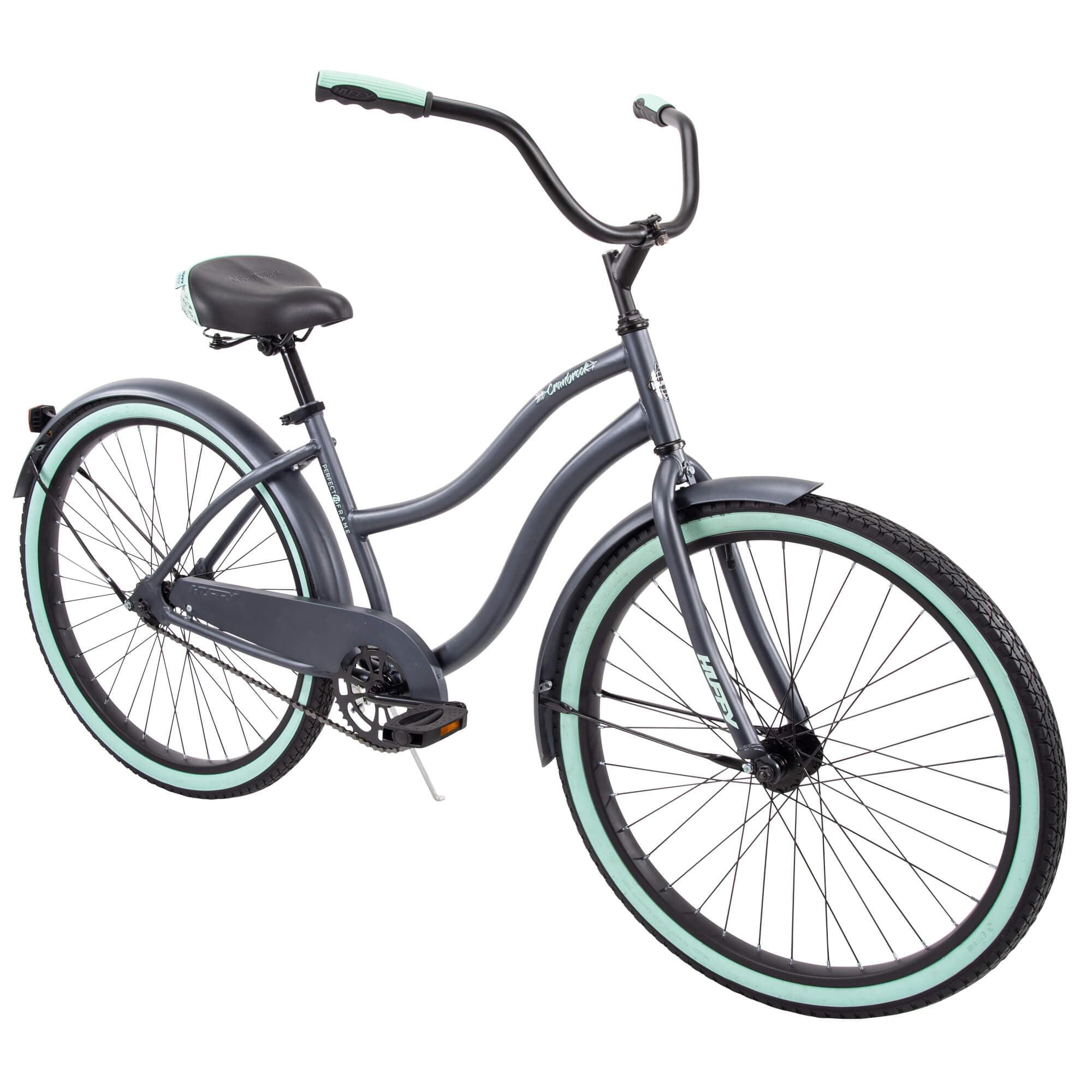 """Huffy 26"""" Cranbrook Womens Comfort Cruiser Bike, Gray"""
