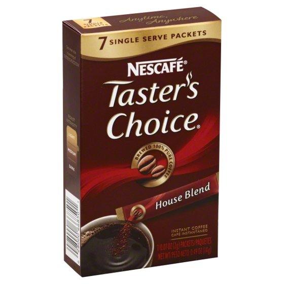 NESCAFE Taster's Choice House Blend Instant Coffee, 0.07 oz, 7 count - Walmart.com
