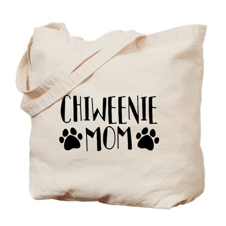 CafePress - Chiweenie Mom - Natural Canvas Tote Bag, Cloth Shopping Bag
