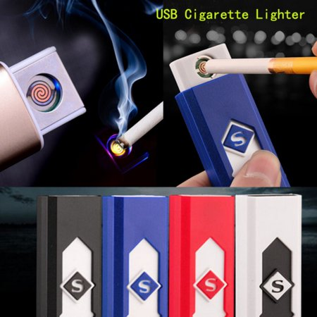 JLONG 1Pcs USB Electric Battery Rechargeable Flameless Fire Lighter Cigarette - Flameless Lighter