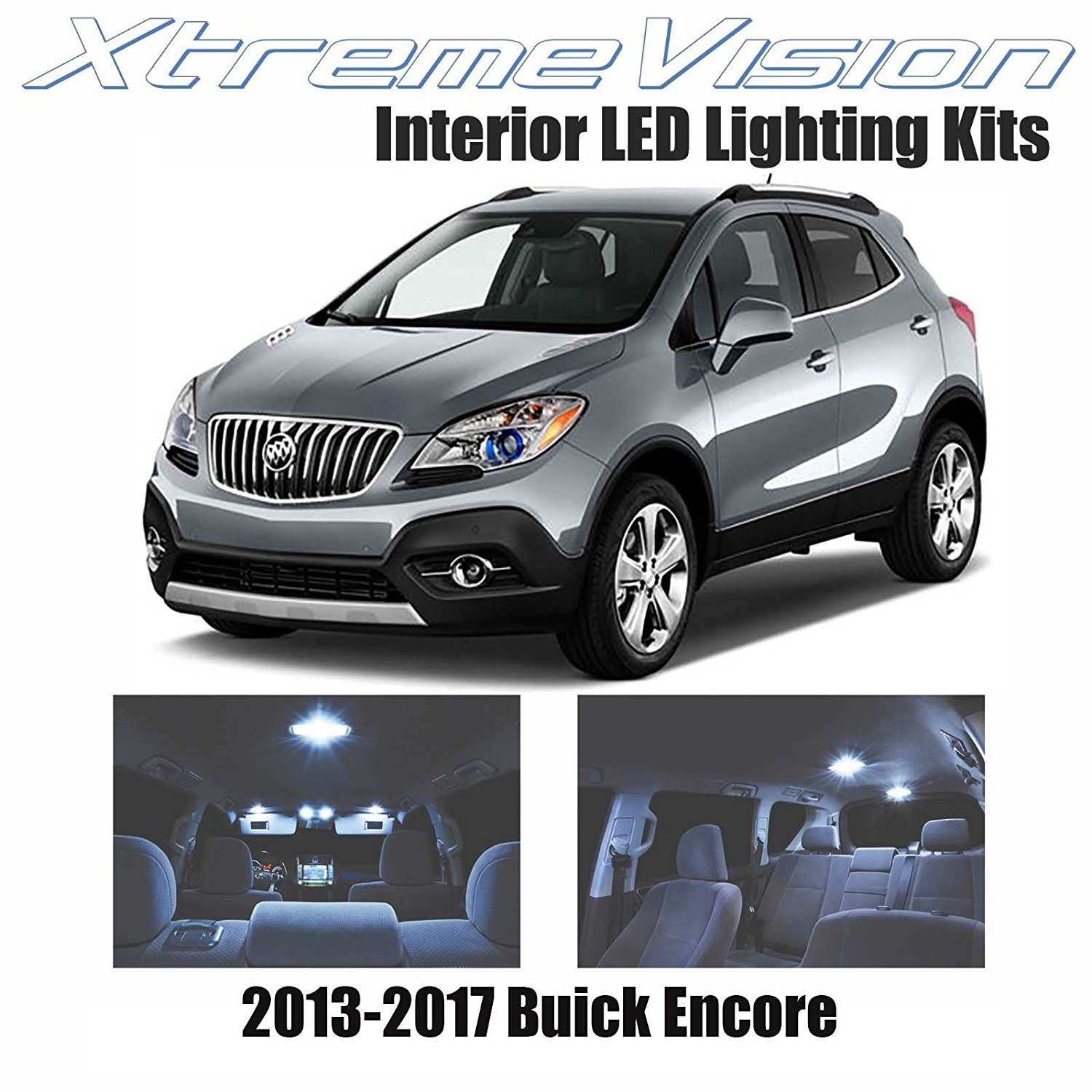 XtremeVision LED for Buick Encore 2013-2017 (5 Pieces) Cool White Premium Interior LED Kit Package + Installation Tool