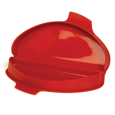 930 Silicone Omelet Maker, 8.75 by 4.75 by 1.38-Inch, Red, Nonstick easy to clean By Norpro