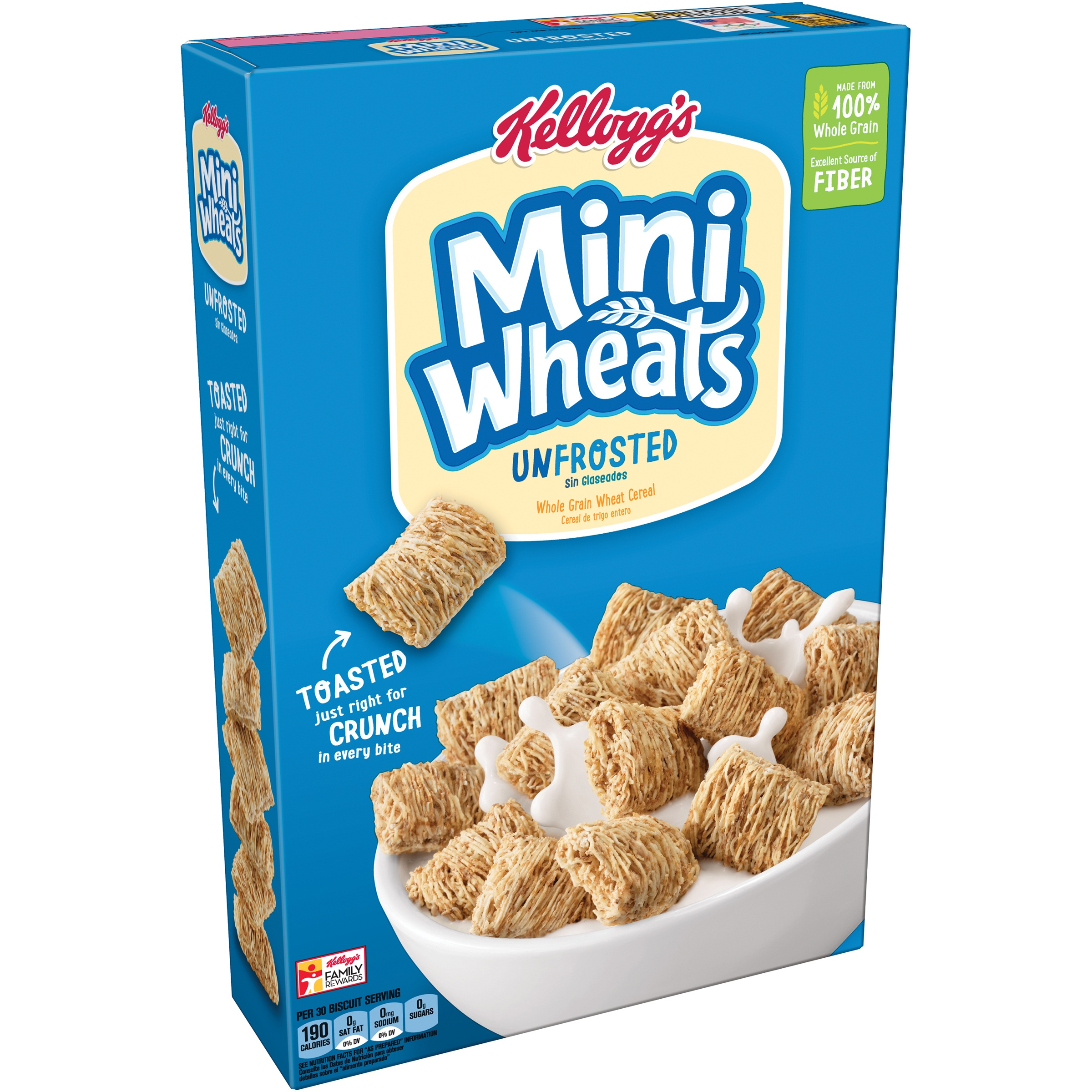 Frosted Mini-Wheats are low in fat, with only 1 g per 24 biscuits, fulfilling 2 percent of the daily value based on a calorie diet. This cereal is free of unwanted saturated fat Founded: Jun 17,